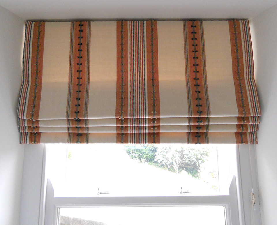 Blinds roman for large window fine curtains for Roman shades for wide windows