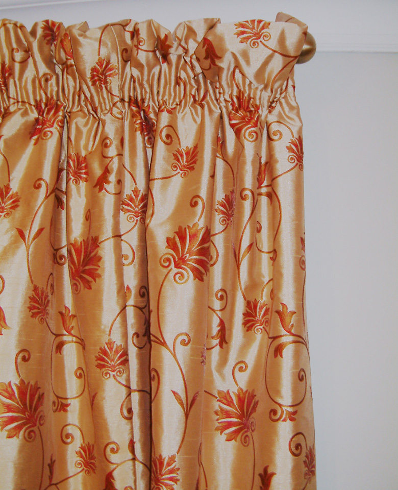 gathered deep curtains the measure tape heading made positioned more top about to from typical a curtain pencil pleat using extra of