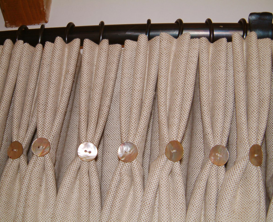 Curtains – with triple pleat heading and buttons